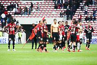 Deception Nice - 18.04.2015 - Nice / Paris Saint Germain - 33eme journee de Ligue 1<br />Photo : Serge Haouzi / Icon Sport