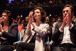 May 2, 2017 - Paris, France - French Culture Minister Audrey Azoulay at the ''Cité de la Musique'', in Paris, on 2 May 2017 during a meeting by artists and organisations gather for an event, ''La culture contre le Front National'', to call for voting against the Front National of Marine Le Pen for the French presidential elections. (Credit Image: © Guillaume Pinon/NurPhoto via ZUMA Press)
