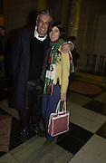 """Rifat Ozbec and Bella Freud. The private views for Anna Piaggi's exhibition """"Fashion-ology"""" and also 'Popaganda: the life and style of JC de Castelbajacat' the Victoria & Albert Museum on January 31  2006. © Copyright Photograph by Dafydd Jones 66 Stockwell Park Rd. London SW9 0DA Tel 020 7733 0108 www.dafjones.com"""