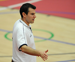 Bristol Academy Flyers head coach, Andreas Kapoulas - Photo mandatory by-line: Dougie Allward/JMP - Mobile: 07966 386802 - 11/10/2014 - SPORT - Basketball - Bristol - Wise Campus - Bristol Flyers v Plymouth Raiders - British Basketball Cup