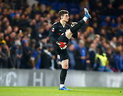 Chelsea's Kepa Arrizabalaga in action during the English FA Cup fifth round soccer match between Chelsea and Liverpool at Stanford Bridge Stadium, Wednesday, March 3, 2020, in London, United Kingdom. (ESPA-Images/Image of Sport)