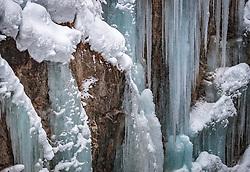 THEMENBILD - die gesperrte Sigmund-Thun-Klamm mit Eiszapfen, aufgenommen am 3. Februar 2018 in Kaprun, Österreich // the locked Sigmund-Thun gorge with icicles in Kaprun, Austria on 2018/02/03. EXPA Pictures © 2018, PhotoCredit: EXPA/ JFK