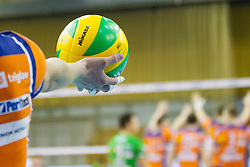 Ball during volleyball match between ACH Volley (SLO) and Vojvodina NS Seme NOVI SAD (SRB) in 5th Leg of Pool F of 2016 CEV DenizBank Volleyball Champions League, on January 21, 2016 in Arena Tivoli, Ljubljana, Slovenia. Photo by Urban Urbanc / Sportida