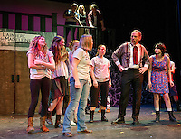Pantine (Kelli Powers) and Foreman (Aaron Witham) with the ensemble during dress rehearsal for Les Miserables with the Streetcar Company at Inter Lakes High School Monday evening.  (Karen Bobotas/for the Laconia Daily Sun)