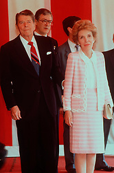 RONALD REAGAN, President of the USA, with his wife NANCY, 01.06.1989. EXPA Pictures © 2016, PhotoCredit: EXPA/ Photoshot/ Photoshot<br /> <br /> *****ATTENTION - for AUT, SLO, CRO, SRB, BIH, MAZ, SUI only*****