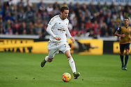 Gylfi Sigurdsson of Swansea city in action. Barclays Premier league match, Swansea city v Arsenal  at the Liberty Stadium in Swansea, South Wales  on Saturday 31st October 2015.<br /> pic by  Andrew Orchard, Andrew Orchard sports photography.