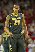 Feb 16, 2013; Fayetteville, AR, USA; Missouri Tigers forward Laurence Bowers (21) reacts to a play during a game against the Arkansas Razorbacks at Bud Walton Arena. Arkansas defeated Missouri 73-71. Mandatory Credit: Beth Hall-USA TODAY Sports