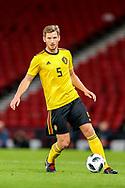 Jan Vertonghen (#5) of Belgium in action during the International Friendly match between Scotland and Belgium at Hampden Park, Glasgow, United Kingdom on 7 September 2018.