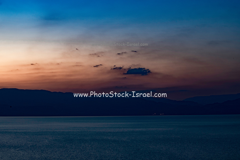 Sunset over the Dead Sea, Israel