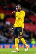 Romelu Lukaku (#9) of Belgium during the International Friendly match between Scotland and Belgium at Hampden Park, Glasgow, United Kingdom on 7 September 2018.