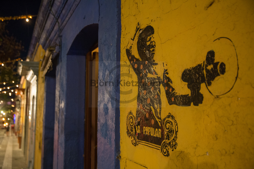 Oaxaca, Mexico - 06.01.2019<br /> <br /> Street art in the city Oaxaca, Mexico. <br /> <br /> Streetart in der mexikanischen Stadt Oaxaca. <br /> <br /> Photo: Bjoern Kietzmann