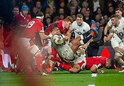 Twickenham, England, 7th March 2020, Kyle SINCKLER, goes in backwards, during the Guinness Six Nations, International Rugby, England vs Wales, RFU Stadium, United Kingdom, [Mandatory Credit; Peter SPURRIER/Intersport Images]