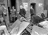 Father Padraig Murphy, St Peter's Roman Catholic Church, Falls Road, Belfast, N Ireland, UK, accompanied by Major General Tony Dyball, the British Army military commander in Belfast, tour the Falls Road area appealing for the removal of barricades. 196909160252b.<br /> <br /> Copyright Image from Victor Patterson,<br /> 54 Dorchester Park, Belfast, UK, BT9 6RJ<br /> <br /> t1: +44 28 90661296<br /> t2: +44 28 90022446<br /> m: +44 7802 353836<br /> <br /> e1: victorpatterson@me.com<br /> e2: victorpatterson@gmail.com<br /> <br /> For my Terms and Conditions of Use go to<br /> www.victorpatterson.com
