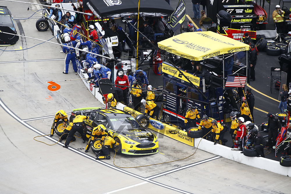 October 29, 2017 - Martinsville, Virginia, USA: Brad Keselowski (2) brings his car down pit road for service during the First Data 500 at Martinsville Speedway in Martinsville, Virginia.