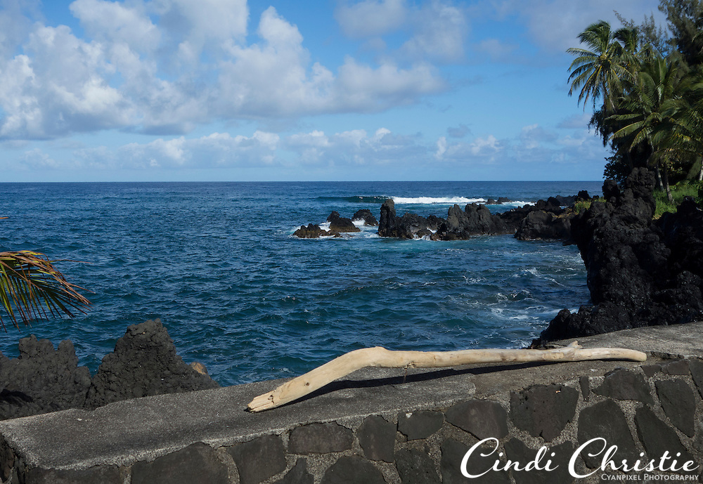 The waves are fairly calm at the Ke'anae Peninsula in Maui, Hawaii, on Thursday, Oct. 31, 2013. (© 2013 Cindi Christie/Cyanpixel)