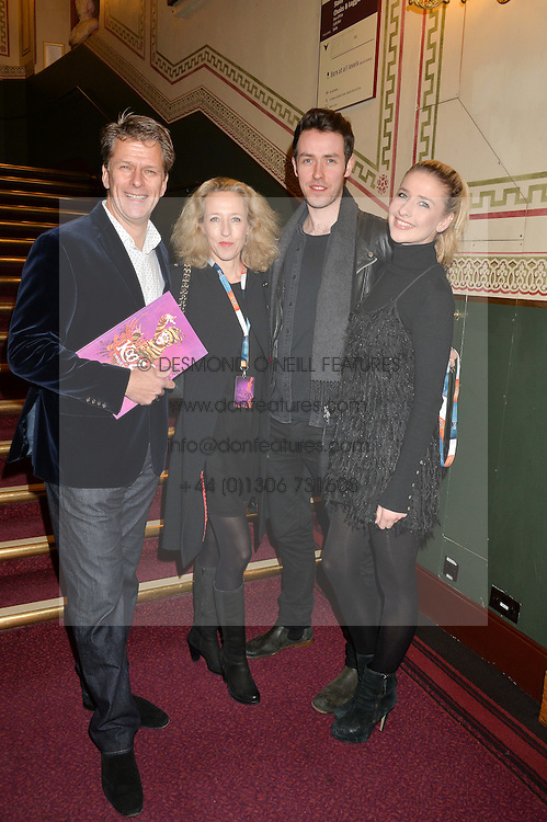 TV presenter ANDREW CASTLE,his wife SOPHIA, their daughter GEORGIE CASTLE and MATT NALTON at the Cirque Du Soleil's VIP performance of Kooza at The Royal Albert Hall, London on 6th January 2015.