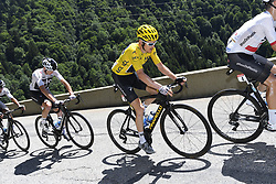 July 19, 2018 - Alpe D Huez, France - ALPE D'HUEZ, FRANCE - JULY 19 : FROOME Chris (GBR) of Team SKY & THOMAS Geraint (GBR) of Team SKY during stage 12 of the 105th edition of the 2018 Tour de France cycling race, a stage of 175.5 kms between Bourg-Saint-Maurice Les Arcs and Alpe D'huez on July 19, 2018 in Alpe D'huez, France, 19/07/2018 (Credit Image: © Panoramic via ZUMA Press)
