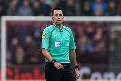 referee Dennis Higler during the Dutch Eredivisie match between Feyenoord Rotterdam and Sparta Rotterdam at the Kuip on April 29, 2018 in Rotterdam, The Netherlands