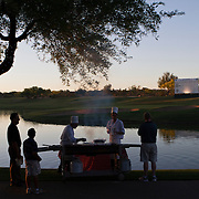 Reminders that AJGA players are still kids is evident in the fact that family are invited to a barbeque with their kids.