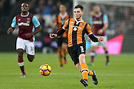 Andrew Robertson of Hull City in action. Premier league match, West Ham Utd v Hull city at the London Stadium, Queen Elizabeth Olympic Park in London on Saturday 17th December 2016.<br /> pic by John Patrick Fletcher, Andrew Orchard sports photography.