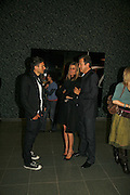 Hedi Slimane, Rosario Saxe Coburg and Mario Testino, EXHIBITION OF WORK BY THOMAS DEMAND ( SUPPORTED BY WALLPAPER) AT THE SERPENTINE GALLERY AND AFTERWARDS AT THE Rochelle Canteen, Rochelle School<br />Arnold Circus. London E2. 5 JUNE 2006. ONE TIME USE ONLY - DO NOT ARCHIVE  © Copyright Photograph by Dafydd Jones 66 Stockwell Park Rd. London SW9 0DA Tel 020 7733 0108 www.dafjones.com