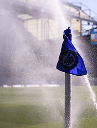 """A general view of a sprinkler during the Premier League match at Stamford Bridge, London. PRESS ASSOCIATION Photo. Picture date: Sunday August 27, 2017. See PA story SOCCER Chelsea. Photo credit should read: Scott Heavey/PA Wire. RESTRICTIONS: EDITORIAL USE ONLY No use with unauthorised audio, video, data, fixture lists, club/league logos or """"live"""" services. Online in-match use limited to 75 images, no video emulation. No use in betting, games or single club/league/player publications."""
