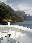 On a scenic cruise on Milford Sound, Fiordland National Park, New Zealand