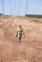 Estela Walking Back From Traps