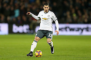 Henrikh Mkhitaryan of Manchester United in action. Premier league match, West Ham Utd v Manchester Utd at the London Stadium, Queen Elizabeth Olympic Park in London on Monday 2nd January 2017.<br /> pic by John Patrick Fletcher, Andrew Orchard sports photography.