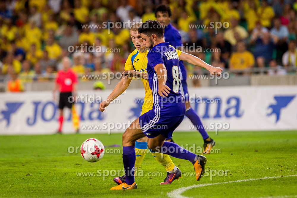 Zeni Husmani of NK Domzaleduring football match between NK Domzale and Olympique de Marseille in First game of UEFA Europa League playoff round, on August 17, 2017 in SRC Stozice, Ljubljana, Slovenia. Photo by Ziga Zupan / Sportida