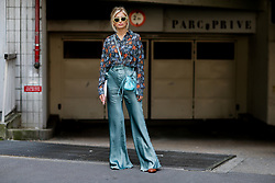 Street style, Xenia Adonts (Van Der Woodsen) arriving at Acne Spring-Summer 2019 menswear show held at Bercy Popb, in Paris, France, on June 20th, 2018. Photo by Marie-Paola Bertrand-Hillion/ABACAPRESS.COM