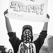 A May Day rally in Los Angeles took on a political tone with demonstrators opposed to Republican presidential candidate Donald Trump taking to the streets in opposition to his anti-immigrant remarks regarding Mexicans. Please contact me directly with licensing request. Available in Color.