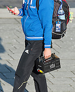 Amsterdam. NETHERLANDS. German Athelete walking with her lunchbox. 2014 FISA  World Rowing. Championships.  De Bosbaan Rowing Course . 08:44:39  Thursday  21/08/2014  [Mandatory Credit; Peter Spurrier/Intersport-images]