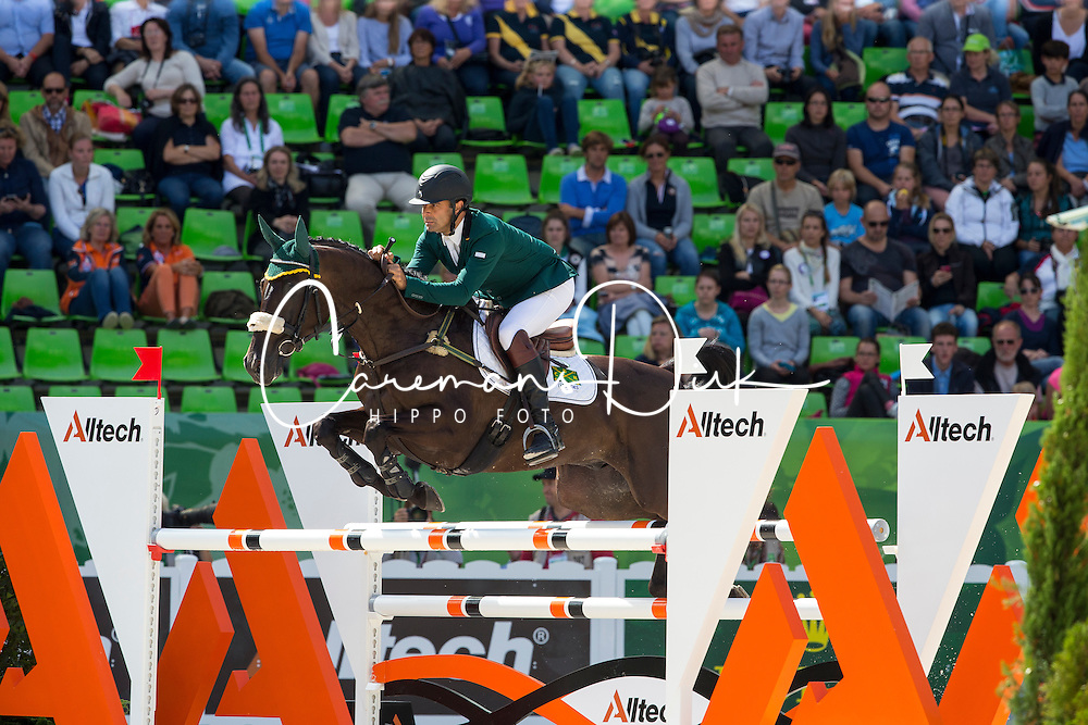 Ruy Fonseca, (BRA), Tom Bombadill Too - Jumping Eventing - Alltech FEI World Equestrian Games™ 2014 - Normandy, France.<br /> © Hippo Foto Team - Leanjo De Koster<br /> 31-08-14