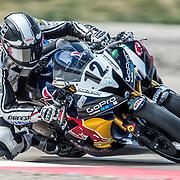 August 4, 2013 - Tooele, UT - Tomas Puerta leads Joe Roberts during SuperSport Race 2 at Miller Motorsports Park.