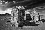 The remains of a stone cabin stand near Tonopah Junction, Nevada,  Esmeralda County. Colin E Braley (Wild West-Media)