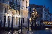 Damien hirst work in Venice outside the Palazzo Grassi, Venice Biennale,  Venice, Friday 12  May 2017