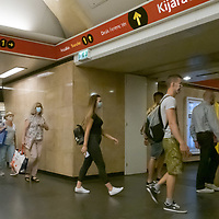 People wearing mask required as part of the COVID-19 preventive regulations travel on public transport in Budapest, Hungary on Sept. 10, 2020. ATTILA VOLGYI