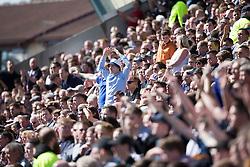 Fans. Kilmarnock 4 v 0 Falkirk, second leg of the Scottish Premiership play-off final.