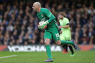 Goalkeeper Wilfredo Caballero of Manchester City in action. The Emirates FA Cup, 5th round match, Chelsea v Manchester city at Stamford Bridge in London on Sunday 21st Feb 2016.<br /> pic by John Patrick Fletcher, Andrew Orchard sports photography.