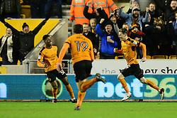 Joe Mason of Wolverhampton Wanderers celebrates scoring a goal - Mandatory by-line: Dougie Allward/JMP - 14/01/2017 - FOOTBALL - Molineux - Wolverhampton, England - Wolverhampton Wanderers v Aston Villa - Sky Bet Championship
