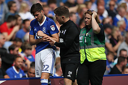 Birmingham City's Carl Jenkinson come off pitch early with injury in 1st half on his debut