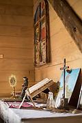 Altar in Church of Vilupulli on Chiloe Island, Chile