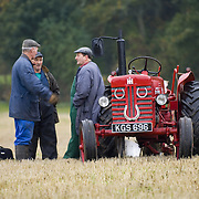 Farmers near vintage tractor at  ploughing competition Perthshire 2005<br />