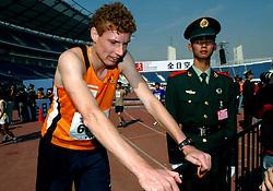 21-10-2007 ATLETIEK: ANA BEIJING MARATHON: BEIJING CHINA<br /> De Beijing Olympic Marathon Experience georganiseerd door NOC NSF en ATP is een groot succes geworden / Bas van de Goor had het zwaar op de marathon maar liep hem uit met een tijd van 4.20<br /> ©2007-WWW.FOTOHOOGENDOORN.NL