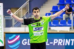 27.04.2018, BSFZ Suedstadt, Maria Enzersdorf, AUT, HLA, SG INSIGNIS Handball WESTWIEN vs Bregenz Handball, Viertelfinale, 1. Runde, im Bild Gabor Hajdu (SG INSIGNIS Handball WESTWIEN) // during Handball League Austria, quarterfinal, 1 st round match between SG INSIGNIS Handball WESTWIEN and Bregenz Handball at the BSFZ Suedstadt, Maria Enzersdorf, Austria on 2018/04/27, EXPA Pictures © 2018, PhotoCredit: EXPA/ Sebastian Pucher