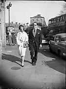 Ronnie Dawson, the Ireland rugby player, gets engaged..21.03.1961