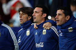 March 22, 2019 - Madrid, MADRID, SPAIN - Lionel Scaloni, coach of Argentina, during the international friendly football match played between Argentina and Venezuela at Wanda Metropolitano Stadium in Madrid, Spain, on March 22, 2019. (Credit Image: © AFP7 via ZUMA Wire)