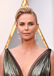 Feb 26, 2017 - Hollywood, California, U.S. - CHARLIZE THERON during red carpet arrivals for the 89th Academy Awards ceremony. (Credit Image: © Lisa O'Connor via ZUMA Wire)