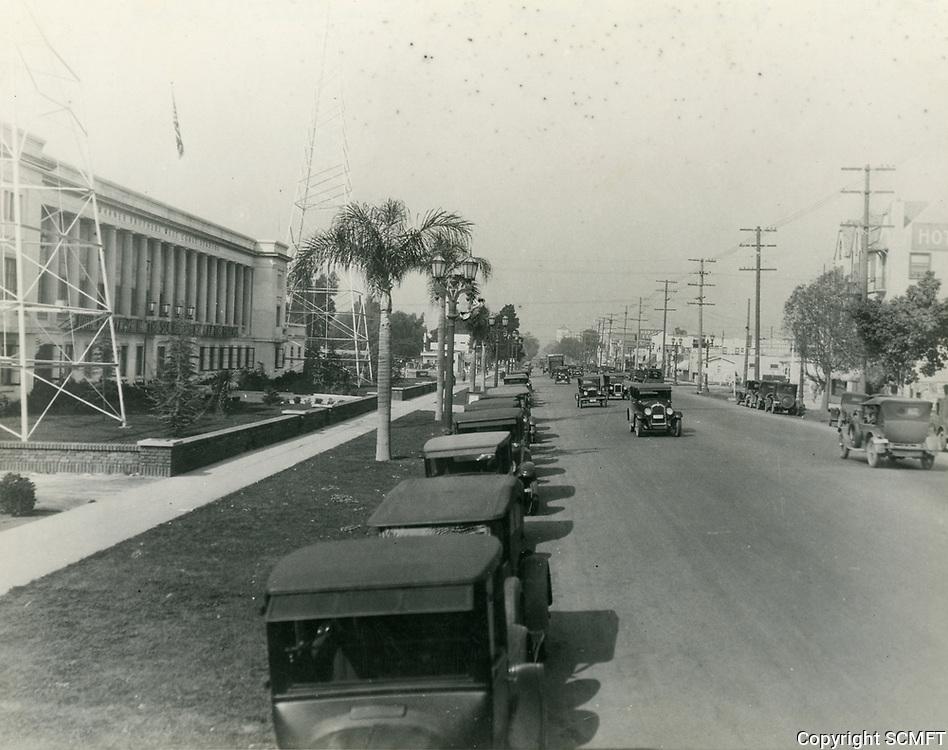1927 Warner Bros. studios on Sunset Blvd.